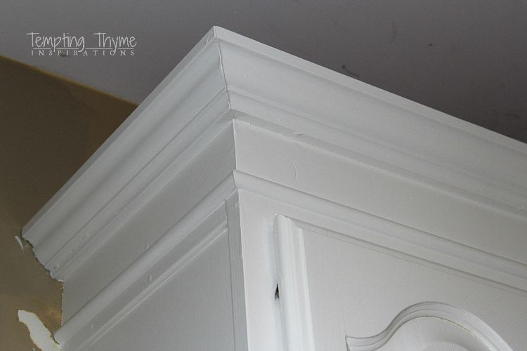 kitchen cabinet crown molding modular cabinets adding height to the tempting thyme building up on your