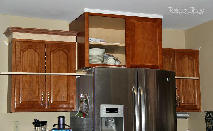 Crown Molding Kitchen Cabinets Different Heights  Kitchen