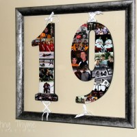DIY Photo Collage Numbers