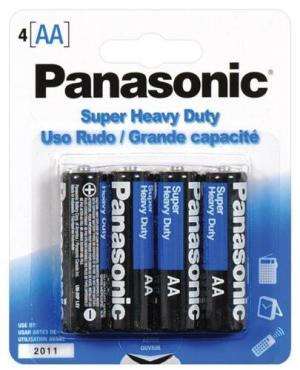 Panasonic Super Heavy Duty Battery AA - 4 Pack