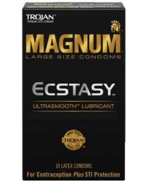 Trojan Magnum Ecstasy Condoms - Box of 10