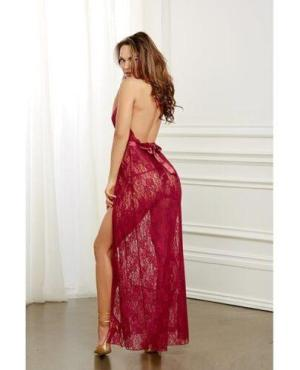 Lace Gown & G-String Garnet XL