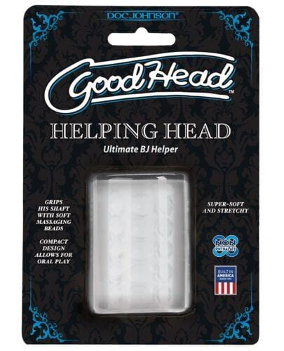 "Good Head Helping Head Ultimate BJ Helper 2"" Masturbator - Clear"