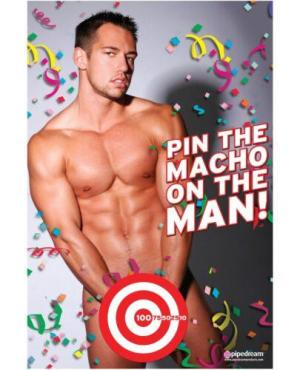 Bachelorette Party Favors Pin the Macho On the Man Game