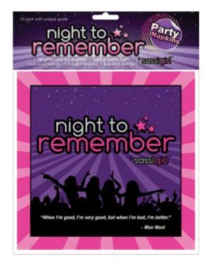 """Night to Remember Standard 6.5"""" Napkins - Pack of 10 by sassigirl"""