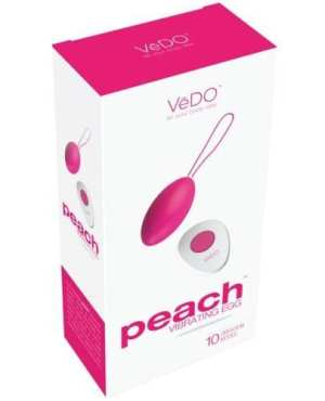VeDO Peach Rechargeable Egg Vibe - Foxy Pink
