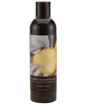Earthly Body Edible Massage Oil - 8 oz Pineapple