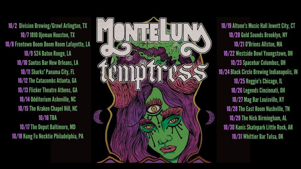 Temptress Monte Luna Fall Tour 2021 Poster