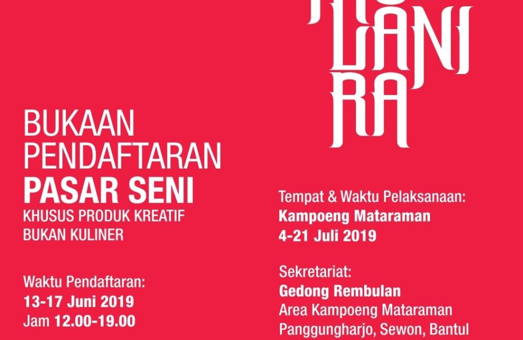 PENDAFTARAN Tenant Pasar Seni Festival Kebudayaan Yogyakarta (FKY) 2019