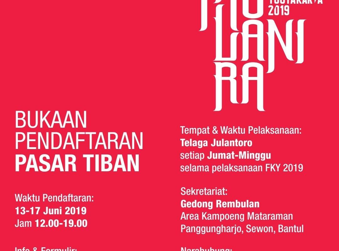 PENDAFTARAN Tenant Pasar Tiban Festival Kebudayaan Yogyakarta (FKY) 2019