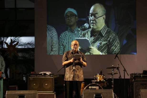 Wagub DIY bacakan sambutan Jogja Menyapa Mahasiswa Baru Paniradya Kaistimewan