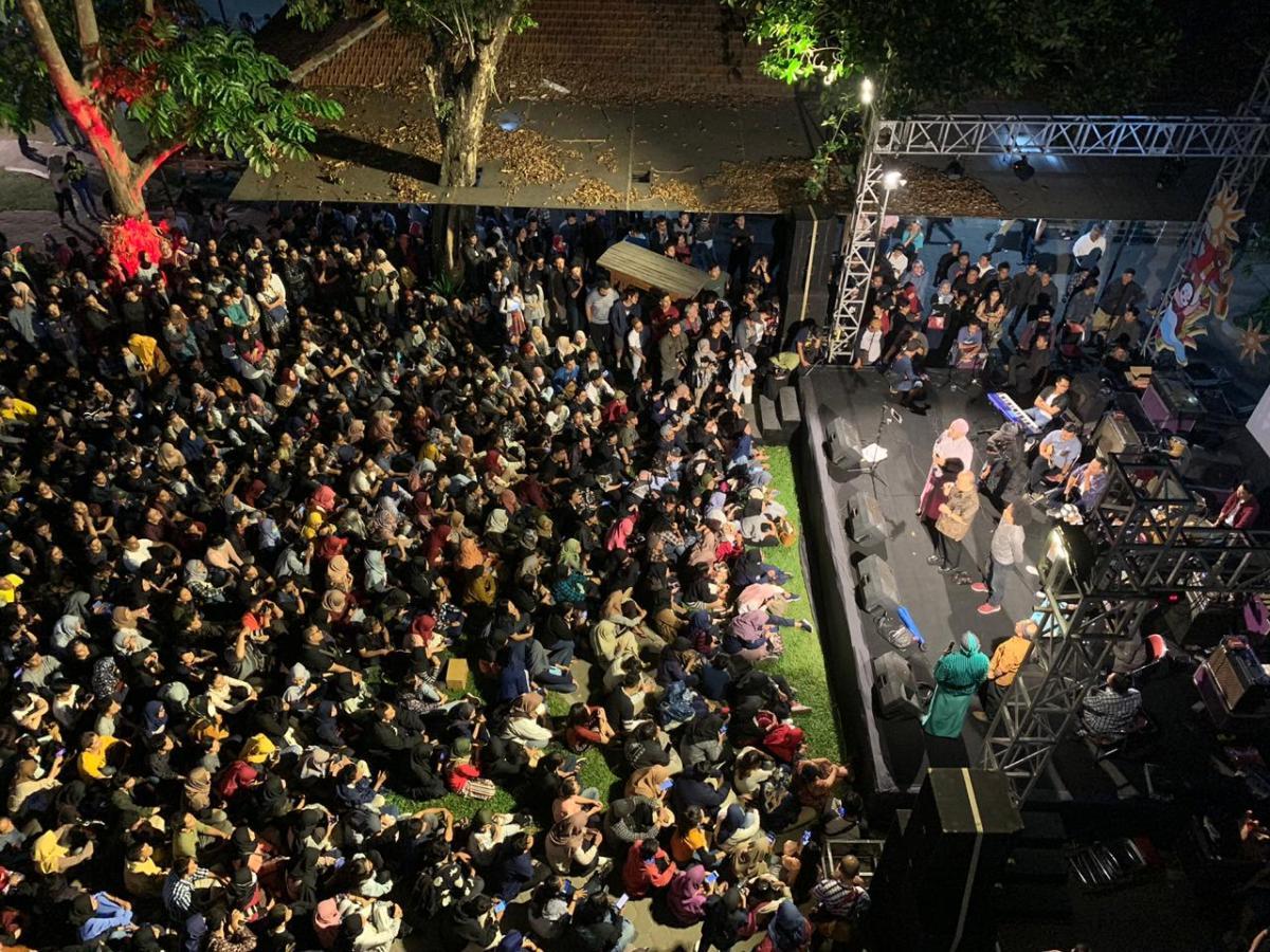 sebagian mahasiswa yang mengikuti acara Jogja Menyapa oleh Paniradya Kaistimewan