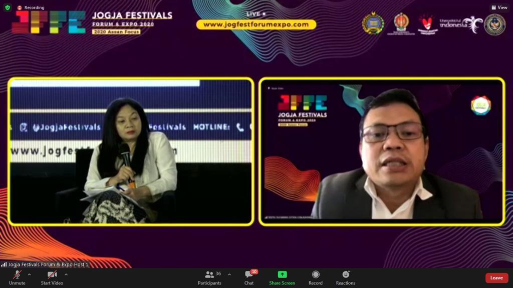 Hari Pertama Jogja Festivals Forum And Expo (JFFE) 2020