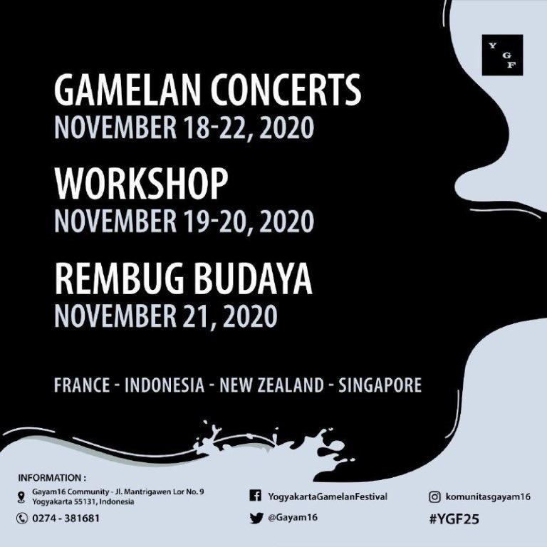 Yogyakarta Gamelan Festival 2020 18 - 22 November 2020