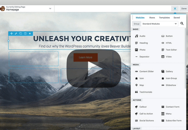 how to create a WordPress website with Beaver Builder.