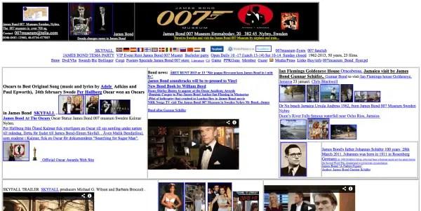 Bad WebDesign: 007museum.com