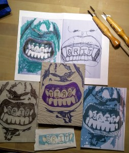 gritted teeth prints