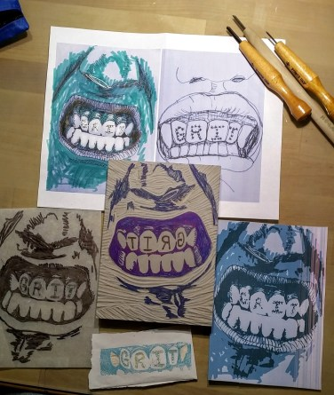 Grit Teeth Work in Progress
