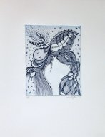 Etching in blue