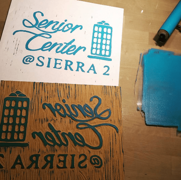 Custom Block & Live Printing Event at Sierra 2