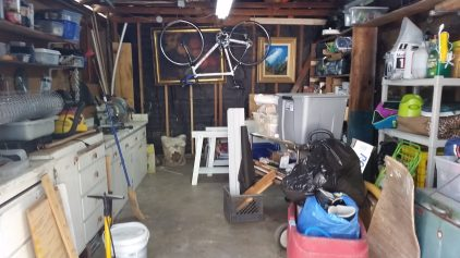Start with a messy garage.