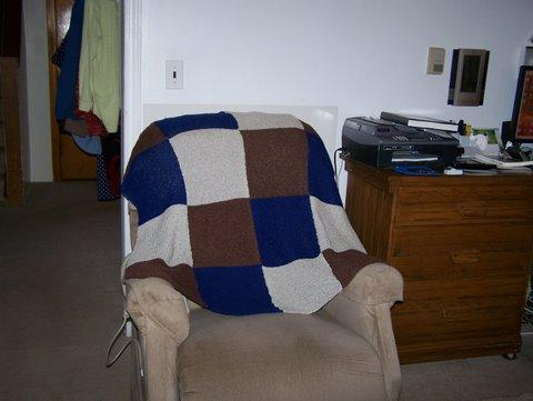 Many hours spent on this imperfect offering. Still, I think Poppy loved that I had done it. This was his chair.