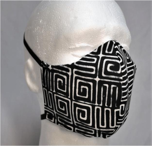 Patterned zero waste face-masks