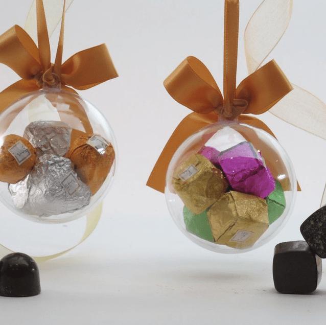 Beautiful sake chocolate ornaments