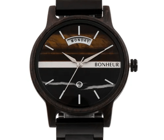 Elegant 100% Canadian custom wood watch from Bonheur