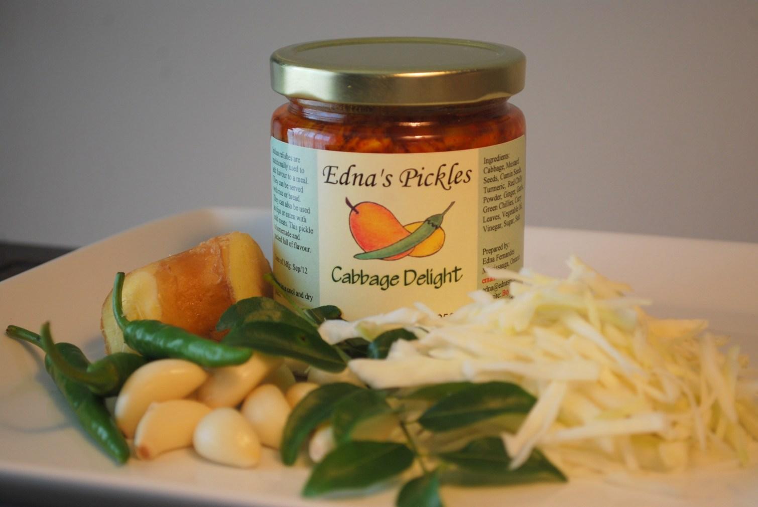 Edna's artisan pickles cabbage delight