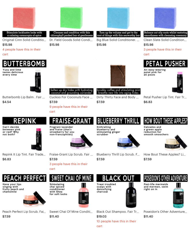 From shampoos, to lipsticks and soaps, Sudsatorium has you covered