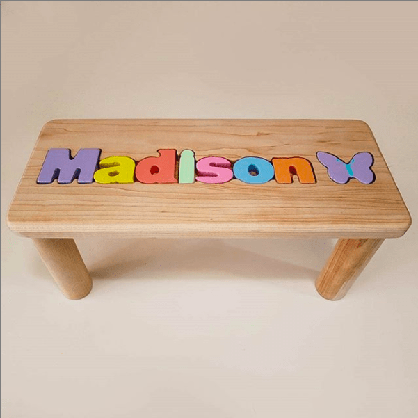 Wooden puzzle name spelling out Madison