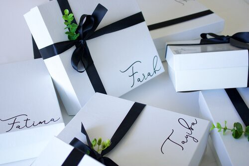 Enoboxes are customizable to suit the needs of any bride