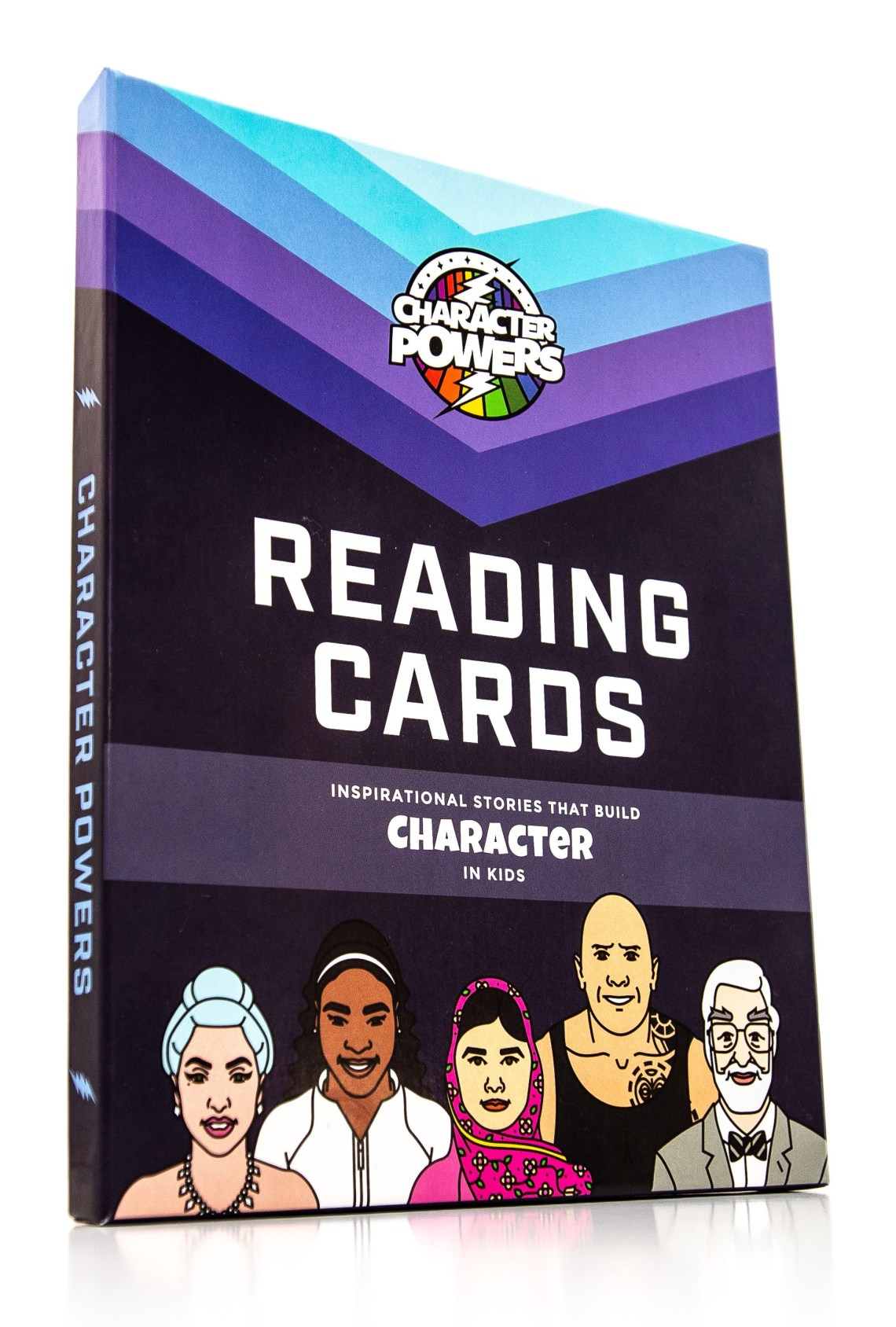 Character powers reading cards