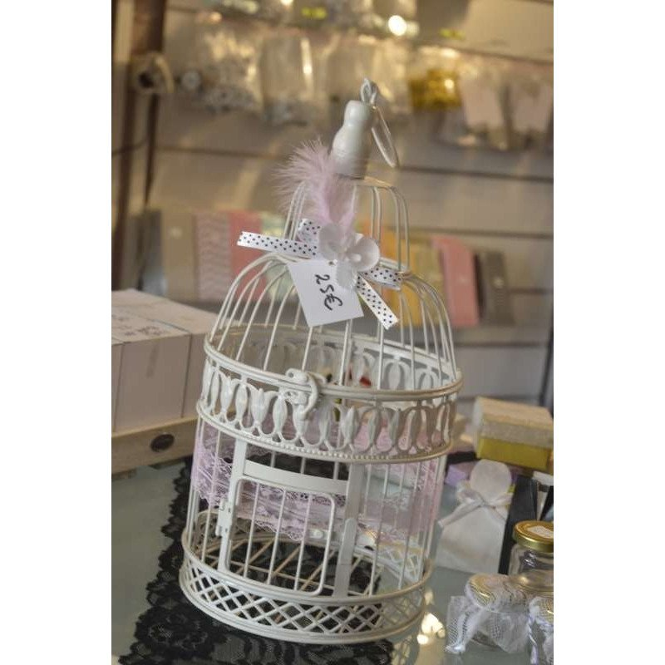 cage oiseau deco mariage et urne petit modele