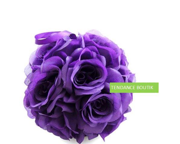 centre de table boule fleurs  tendance boutik