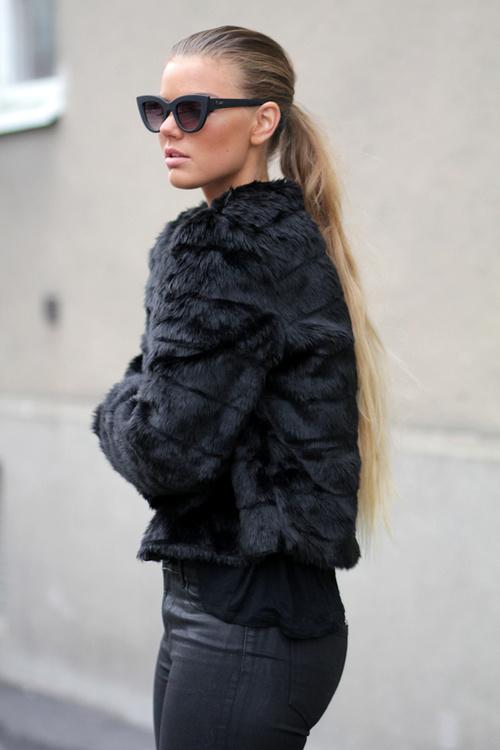 Le manteau de fourrure : tendance de l'hiver