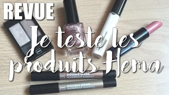 Premier test des produits cosmétiques HEMA