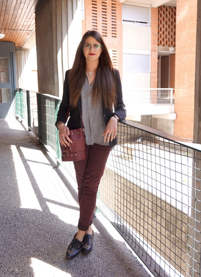 LOOK MODE DERBIES BORDEAUX TENUE