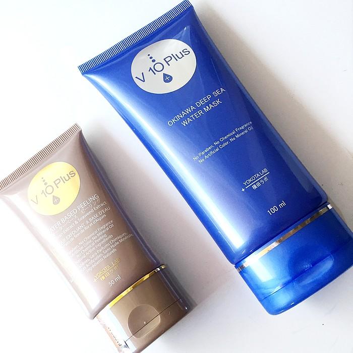 Produits V10 PLUS masque et exfoliant