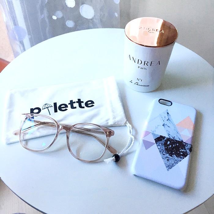 Usine à lunettes coque iphone caseable et bougie andrea paris
