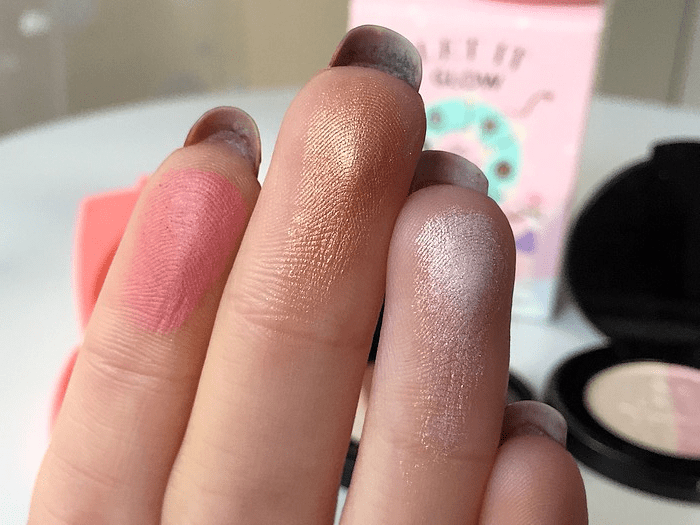 coffret let it glow too faced swatch
