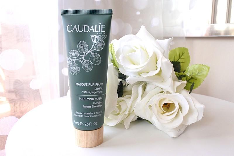 Crème exfoliante désincrustante et masque purifiant soins Caudalie