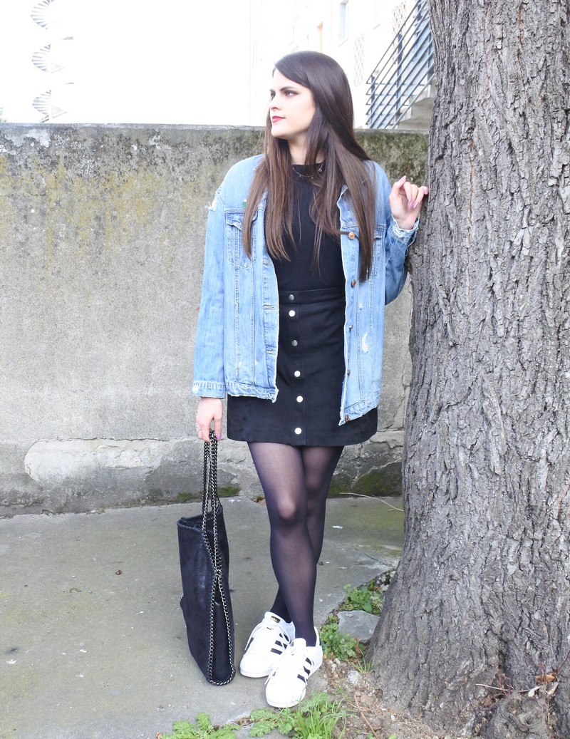 Look n°76 • Black & jeans tendance clemence