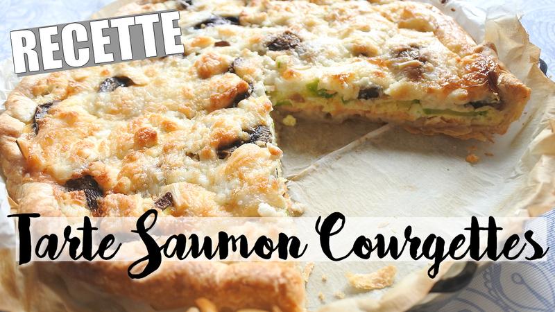 Recette • Tarte Saumon Courgettes