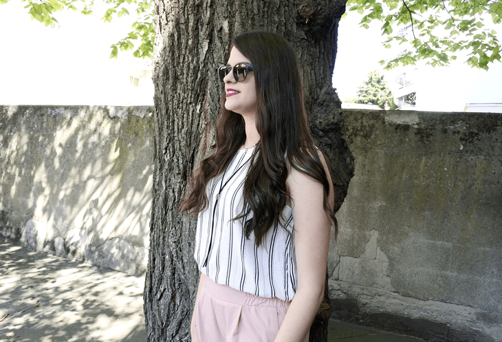look pantalon rose tendance clemence blog mode
