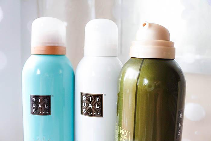 Les mousses de douche Rituals tendance clémence blog beauté toulouse