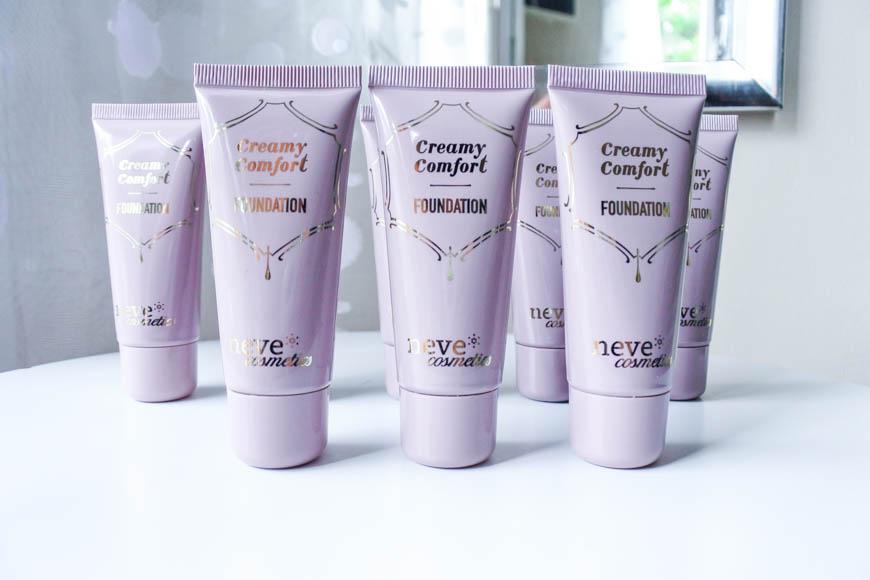 Le nouveau fond de teint Creamy Comfort de Neve Cosmetics