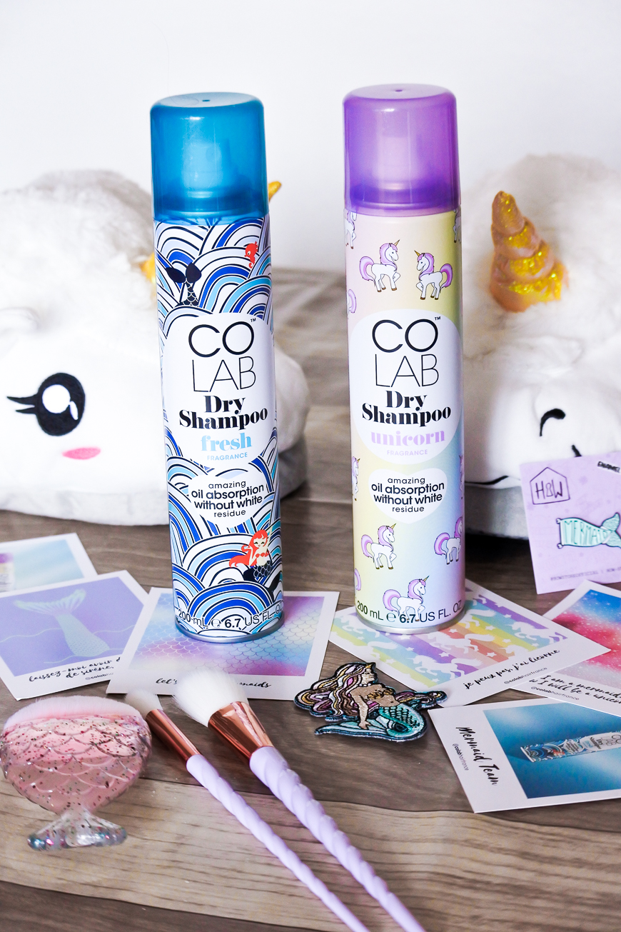 L'univers féerique des shampoings secs COLAB