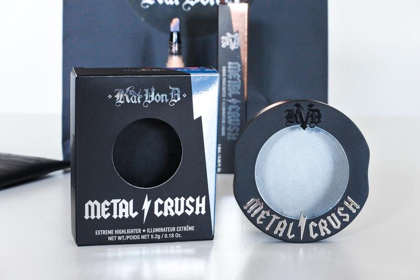 Les highlighters Metal Crush de Kat Von D